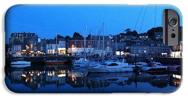 Chip iPhone Cases - Padstow Harbour in Cornwall iPhone Case by Sonny Chana