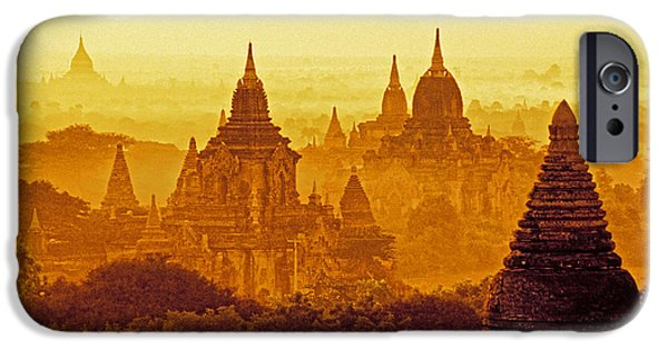Buddhist iPhone Cases - Pagodas iPhone Case by Dennis Cox WorldViews
