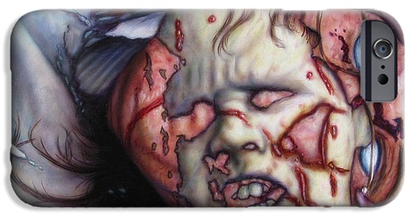 Fear iPhone Cases - Pain iPhone Case by James W Johnson