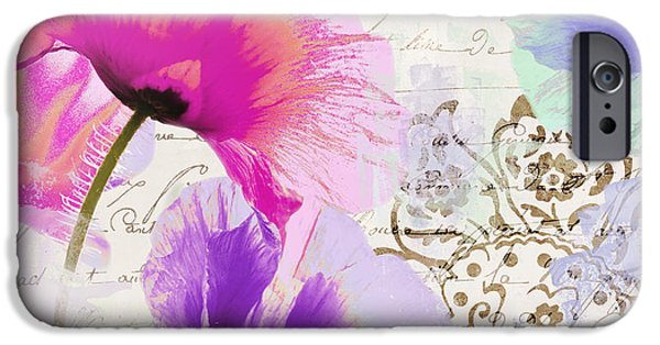 Splashy iPhone Cases - Paint and Poppies iPhone Case by Mindy Sommers