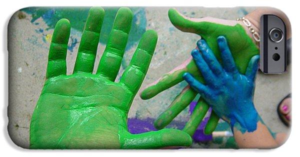Freedmen iPhone Cases - Paint Hands iPhone Case by Jason Freedman