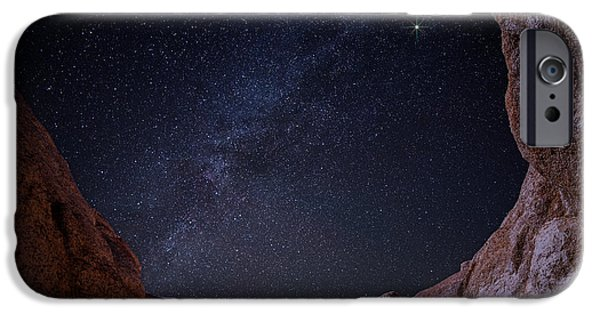 Stargazing iPhone Cases - Paint Mine Milky Way iPhone Case by Darren  White
