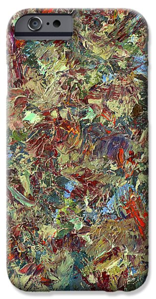 Texture Paintings iPhone Cases - Paint number 21 iPhone Case by James W Johnson