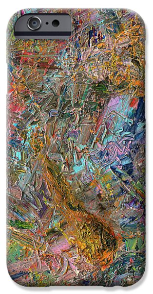 Color Field iPhone Cases - Paint Number 26 iPhone Case by James W Johnson