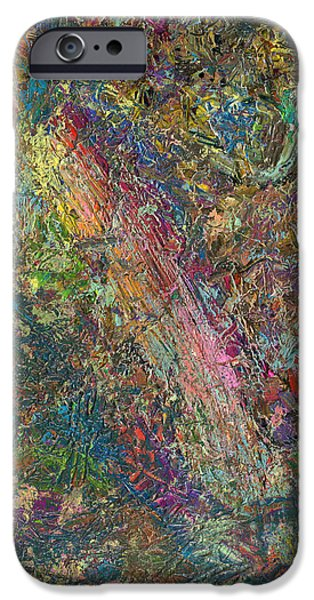 Abstracted iPhone Cases - Paint number 27 iPhone Case by James W Johnson