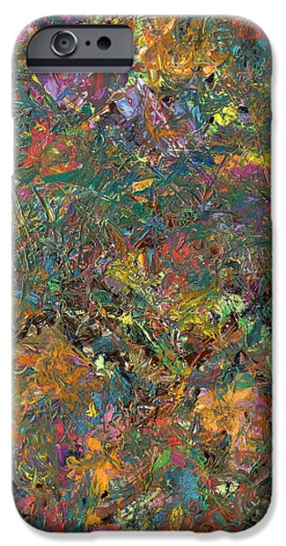 Texture Paintings iPhone Cases - Paint number 29 iPhone Case by James W Johnson