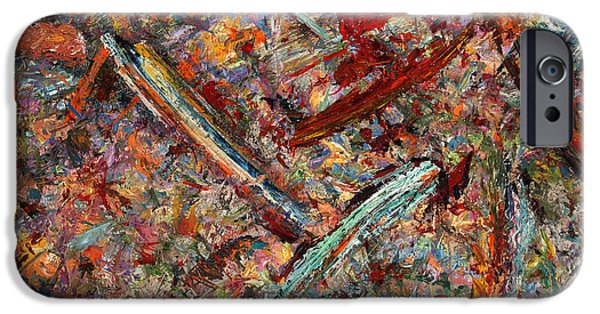 Abstract Expressionism Paintings iPhone Cases - Paint number 30 iPhone Case by James W Johnson