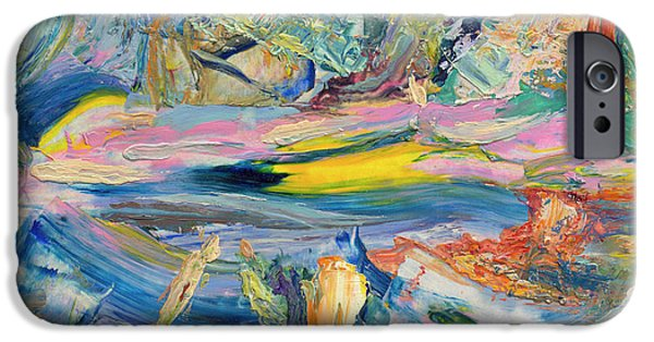 Abstract Expressionism iPhone Cases - Paint number 31 iPhone Case by James W Johnson