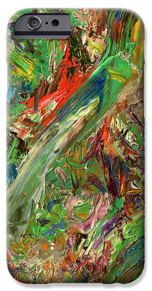 Abstract Expressionism Paintings iPhone Cases - Paint number 32 iPhone Case by James W Johnson