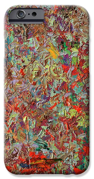 Abstract Expressionism Paintings iPhone Cases - Paint number 33 iPhone Case by James W Johnson