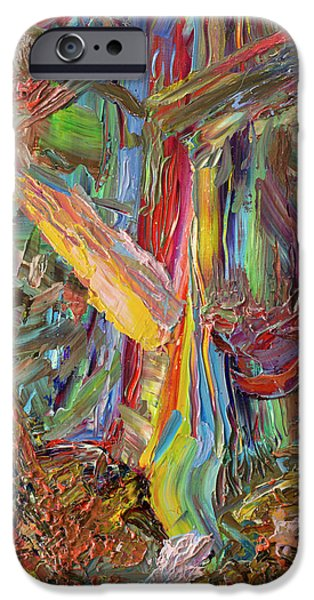Abstract Expressionism Paintings iPhone Cases - Paint number 40 iPhone Case by James W Johnson