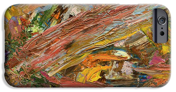 Abstract Expressionism Paintings iPhone Cases - Paint number 41 iPhone Case by James W Johnson