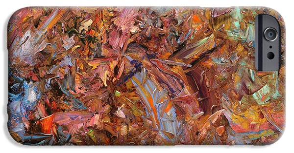 Abstract Expressionism Paintings iPhone Cases - Paint number 43b iPhone Case by James W Johnson