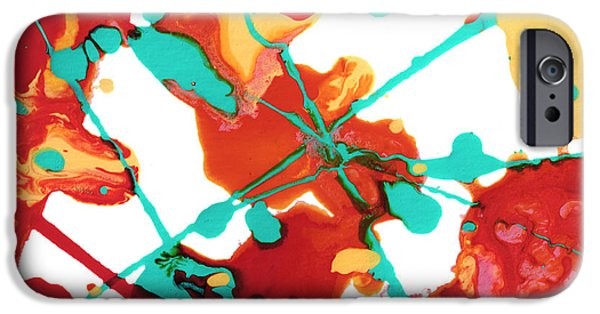 Abstractions iPhone Cases - Paint Party 1 iPhone Case by Amy Vangsgard