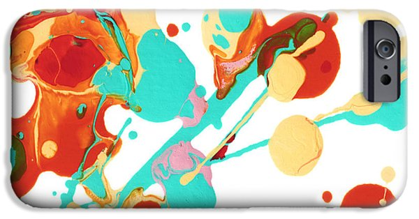 Abstractions iPhone Cases - Paint Party 3 iPhone Case by Amy Vangsgard