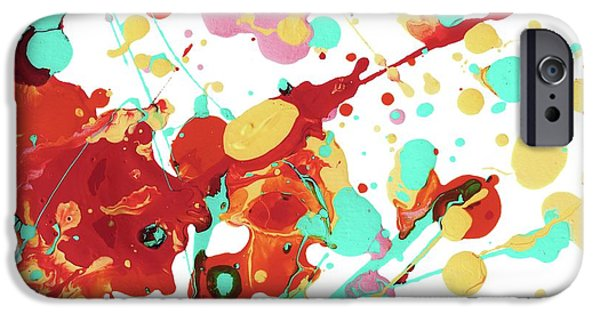 Abstractions iPhone Cases - Paint Party iPhone Case by Amy Vangsgard