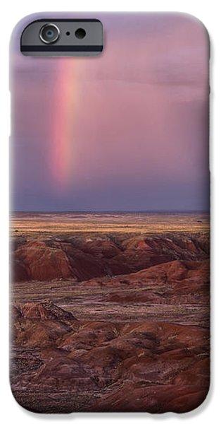 Petrified Forest Arizona iPhone Cases - Painted Desert Rainbow iPhone Case by Melany Sarafis