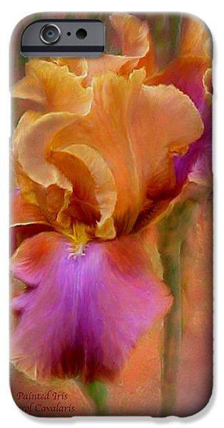 Iris iPhone Cases - Painted Goddess - Iris iPhone Case by Carol Cavalaris