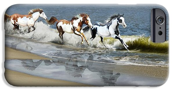 Bhymer iPhone Cases - Painted Ocean iPhone Case by Barbara Hymer