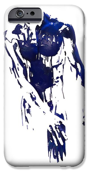 Figure iPhone Cases - Painted Posture  iPhone Case by Kathleen Darby