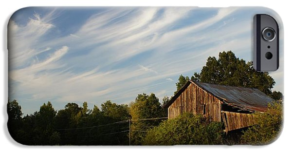 Old Barn iPhone Cases - Painted Sky Barn iPhone Case by Benanne Stiens