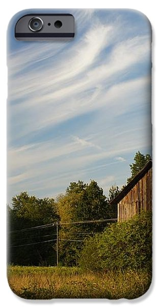 Painted Sky Barn iPhone Case by Benanne Stiens