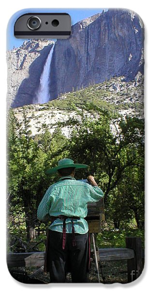 Painter Photographs iPhone Cases - Painting Waterfalls  iPhone Case by Julie Cleveland