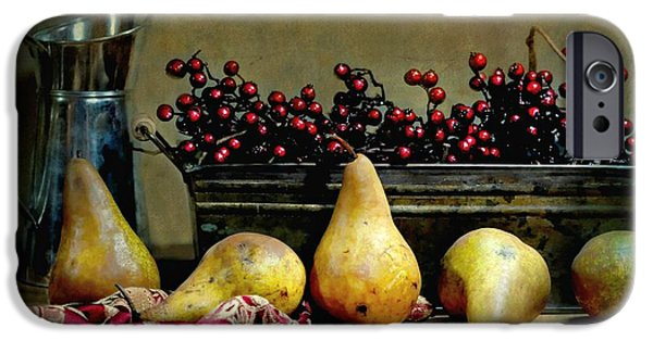 Still Life With Old Pitcher iPhone Cases - Pairs of Pears iPhone Case by Diana Angstadt