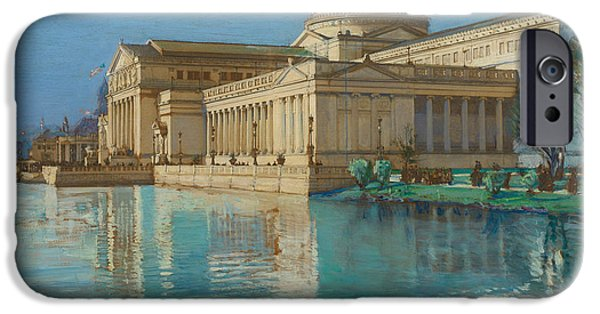 Childe iPhone Cases - Palace of Fine Arts iPhone Case by Childe Hassam