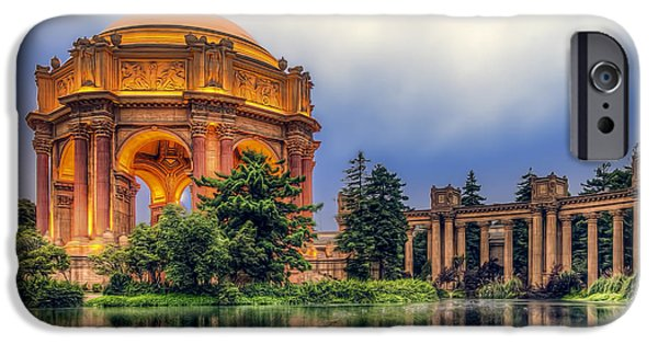 Ruin iPhone Cases - Palace of Fine Arts iPhone Case by Maria Coulson