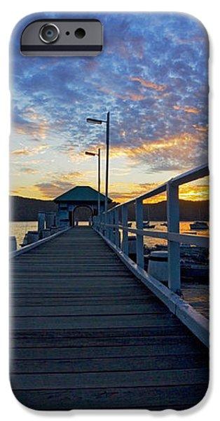Palm Beach wharf at dusk iPhone Case by Sheila Smart