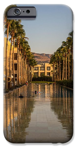 Jordan iPhone Cases - Palm Lined Pool iPhone Case by Joshua Van Lare