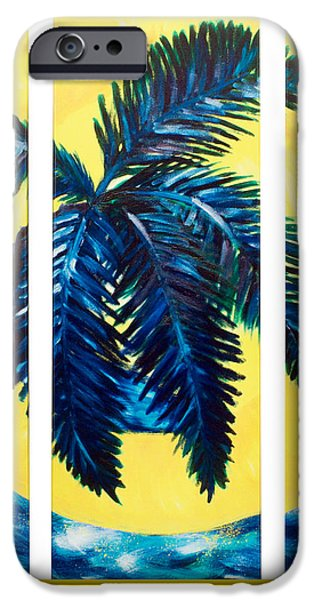 Nature Abstract iPhone Cases - Palm Moon iPhone Case by Mariia Malygina