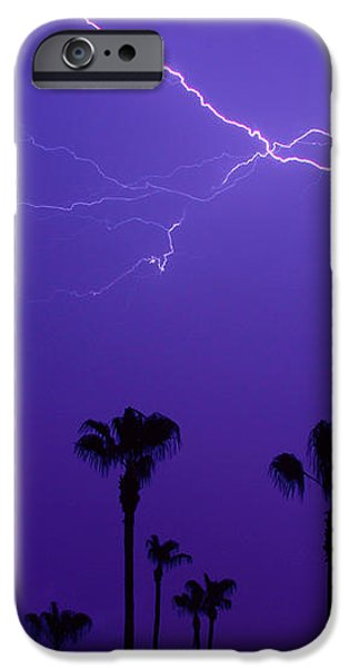 Palm Trees and Spider Lightning Striking iPhone Case by James BO  Insogna