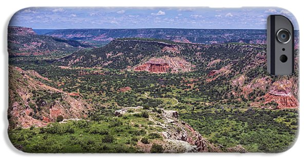 Red Rock iPhone Cases - Palo Duro Canyon iPhone Case by Joan Carroll