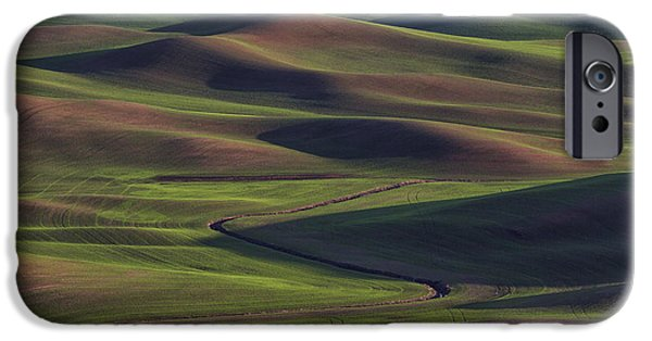 Crops iPhone Cases - Palouse Abstract 1 iPhone Case by Mark Kiver