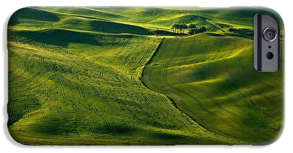 Crops Photographs iPhone Cases - Palouse Patterns iPhone Case by Mike  Dawson
