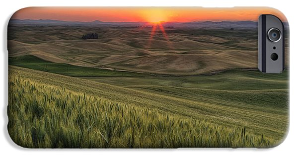 Field. Cloud iPhone Cases - Palouse Sunrise iPhone Case by Mark Kiver