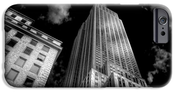 Empire State iPhone Cases - Pandemonium Above iPhone Case by Mike  Deutsch