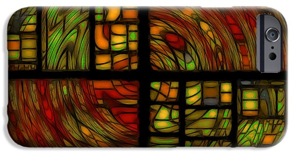 Abstract Digital iPhone Cases - Panels iPhone Case by Jean-Marc Lacombe