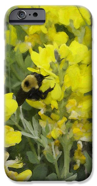 Panorama Hills Bluffs Bee Painting iPhone Case by Donna Munro