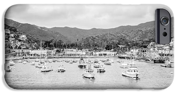 Santa iPhone Cases - Panorama of Catalina Island Avalon Bay iPhone Case by Paul Velgos