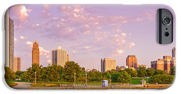 Field. Cloud iPhone Cases - Panorama of South Side of Chicago Skyline and One Museum Park from Shedd Aquarium - Chicago Illinois iPhone Case by Silvio Ligutti