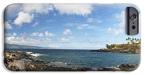 David iPhone Cases - Panoramic Kapalua Beach Resort iPhone Case by Dave Fleetham - Printscapes