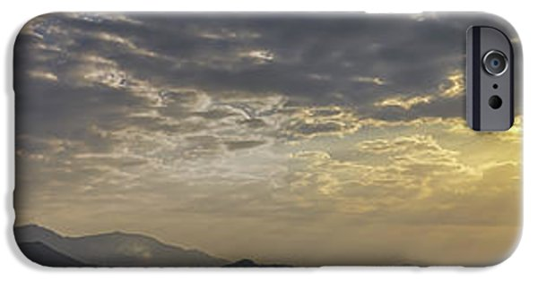 Michelle iPhone Cases - Panoramic Sunset iPhone Case by Michelle Meenawong