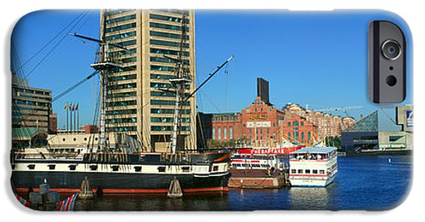 Constellations iPhone Cases - Panoramic View Of The Uss Constitution iPhone Case by Panoramic Images
