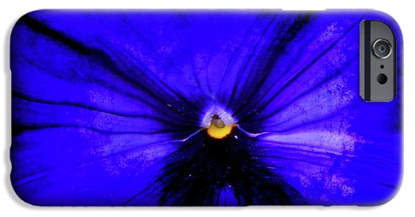 Flora Mixed Media iPhone Cases - Pansy Abstract Grunge iPhone Case by Ernie Echols