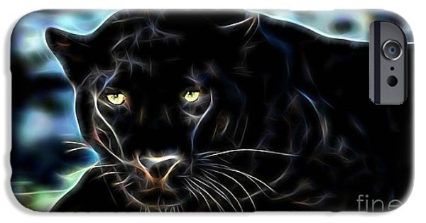 Animal iPhone Cases - Panther Collection iPhone Case by Marvin Blaine