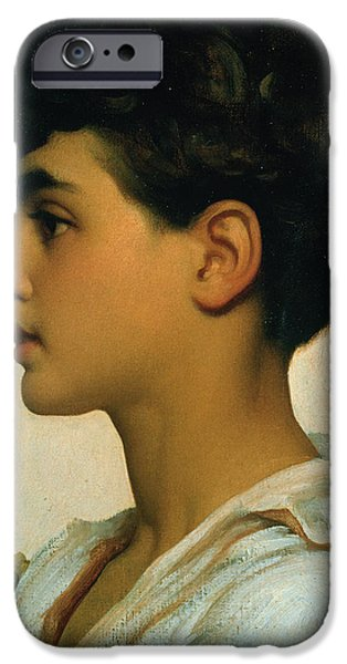 Leighton Frederic 1830-96 iPhone Cases - Paolo iPhone Case by Frederic Leighton
