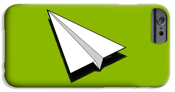 Aero iPhone Cases - Paper Airplane 1 iPhone Case by Yo Pedro
